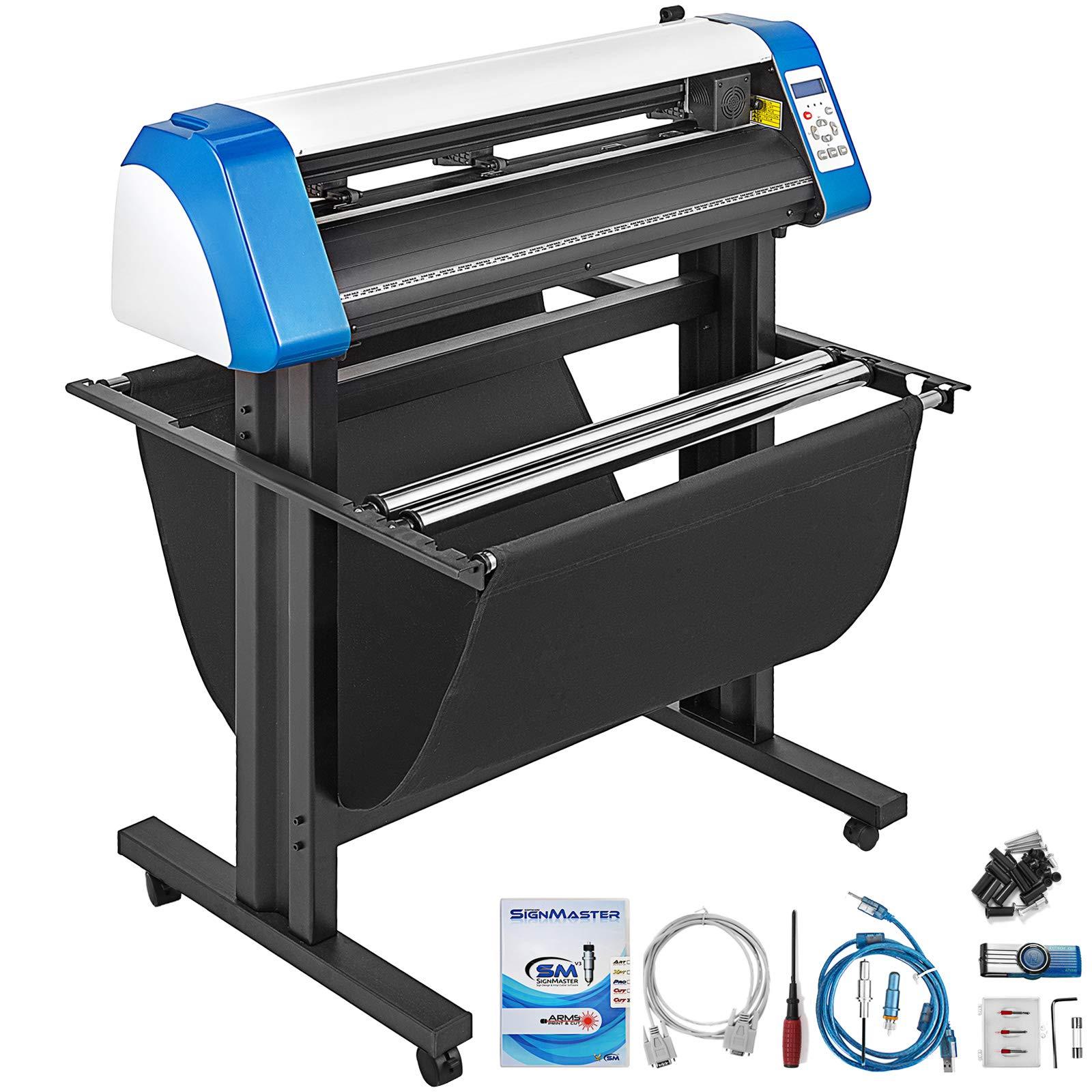 VEVOR Vinyl Cutter 28 Inch Vinyl Cutter Machine Semi-Automatic DIY Vinyl Printer Cutter Machine Manual Positioning Sign Cutting with Floor Stand & Signmaster Software