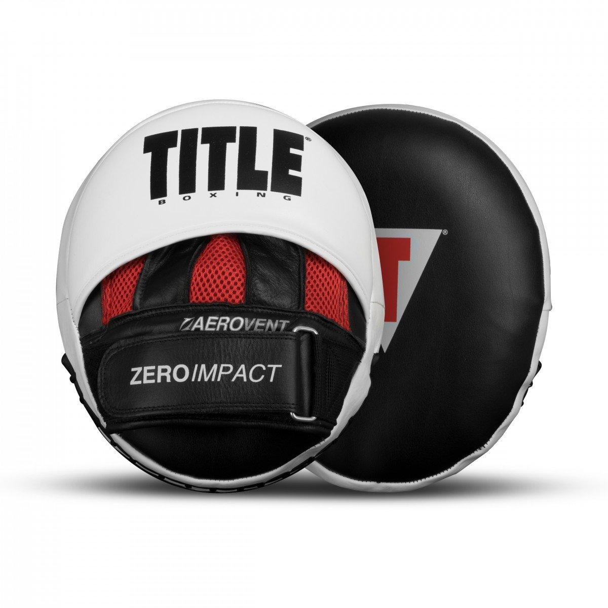 タイトルボクシングzero-impact Rare Air Punch Mitts 2.0、ブラック