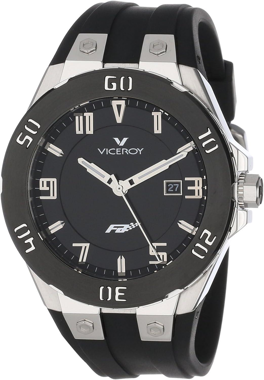 Viceroy 47673-55 - Reloj de Pulsera Hombre, Caucho, Color Negro