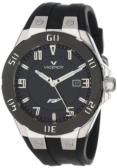 Viceroy 47673-55 - Reloj de Pulsera Hombre, Caucho, Color Negro: Amazon.es: Relojes