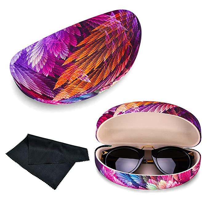 Extra Large Sunglasses Case Hard Shell Light Weight With Cloth Unisex Durable Protective Holder for Oversized Eyeglasses