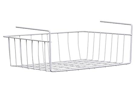 Premier Housewares Under Shelf Storage Basket, 39 Cm   White