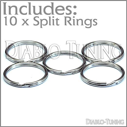 Llaveros de níquel de 25 mm, 10 unidades, con anillas ...