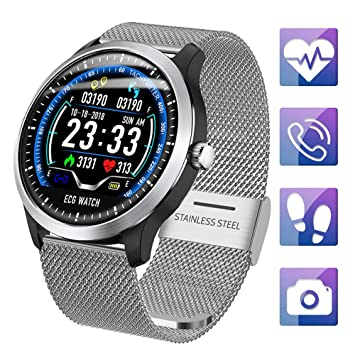 ZLI Advanced Smart Watch Híbrido, Rastreador De Actividad con Monitor De Ritmo Cardíaco Y Presión Arterial, Podómetro Scientific Sleep Monitor Smart ...