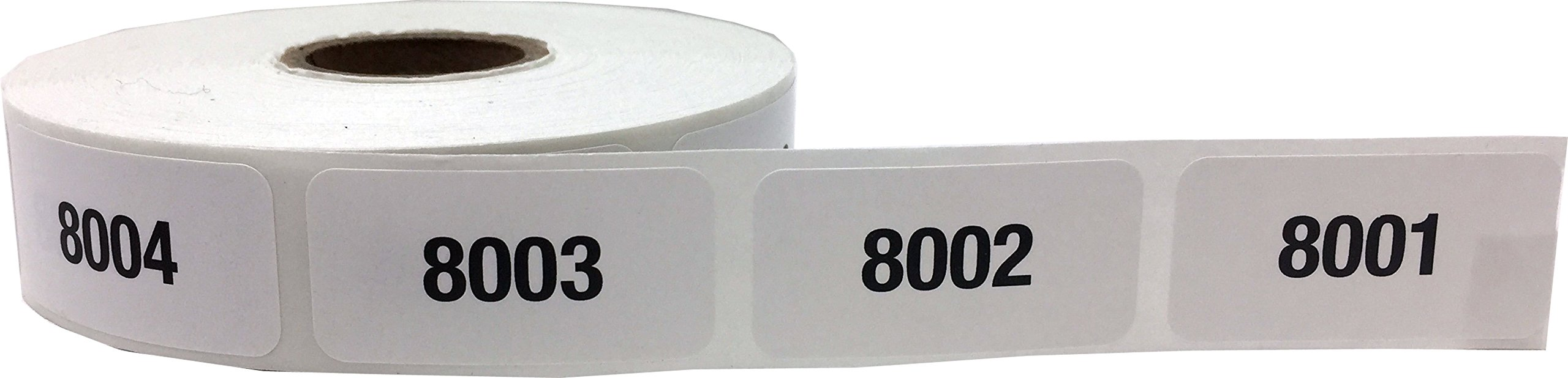 Consecutive Number Labels Bulk Pack Numbers 1 Through 10,000 White/Black .75 x 1.5 Rectangle Small Number Stickers For Inventory by InStockLabels.com (Image #2)