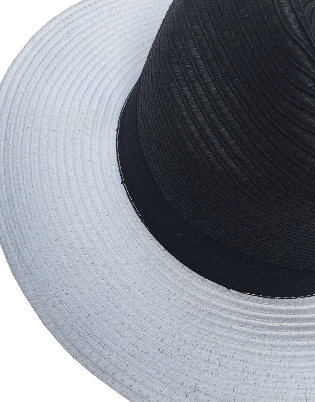 Jixin4you Women Men Summer Beach Panama Straw Cap Sunhat HB05