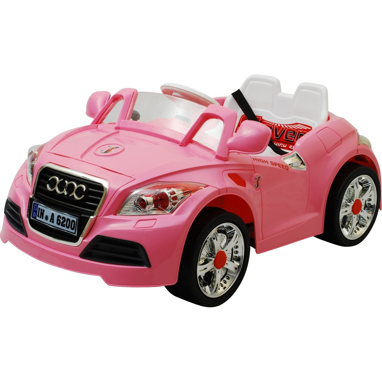 12v twin motors audi tt style rechargeable kids ride on car parental remote control and mp3 input 12v audi tt pink amazoncouk toys games