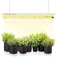 SPIDER FARMER SF-300 LED Grow Light Sunlike Full Spectrum Plant Grow Lights for Indoor Plants Hydroponics Seeding Veg…