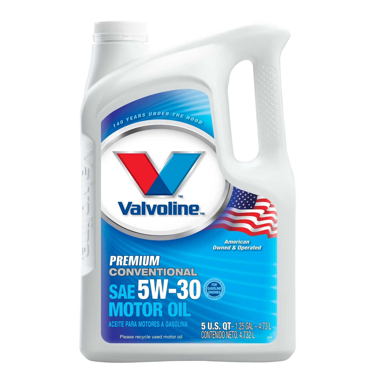 Valvoline 5W-30 Premium Conventional Motor Oil - 5qt (Case of 3) (779461-3PK)