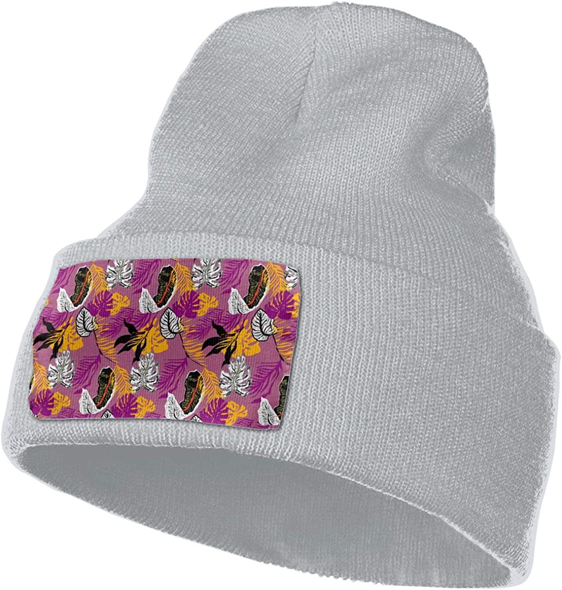 QZqDQ Floral Pattern Texture Unisex Fashion Knitted Hat Luxury Hip-Hop Cap