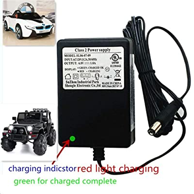 6V Kids Powered Ride On Car Universal Charger with charging indicator-Applicable to a variety of children's electric baby carriage ride toy battery supply power adapter SL06-07-09 6V=1.0A: Toys & Games