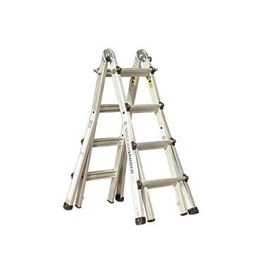 Vulcan Ladder USA 3600735401986540 Stepladder Multi-Task Alu 17Ft, 17' MT