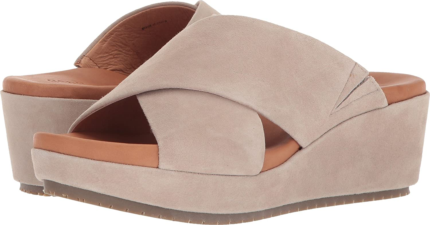 Gentle Souls Women's Mikenzie Platform X-Band Slide Sandal B075GWP4MC 5.5 B(M) US|Mushroom Suede