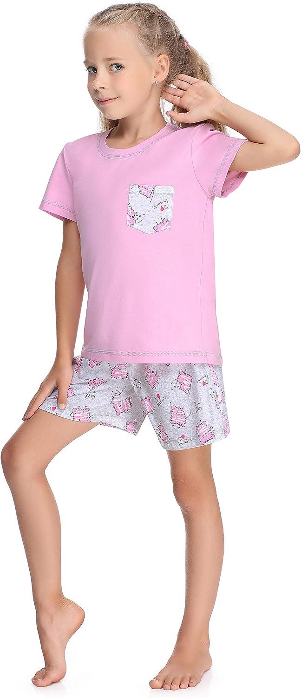 Merry Style Pijama Manga Corta Camiseta y Pantalones Ropa Ni/ña MS10-292