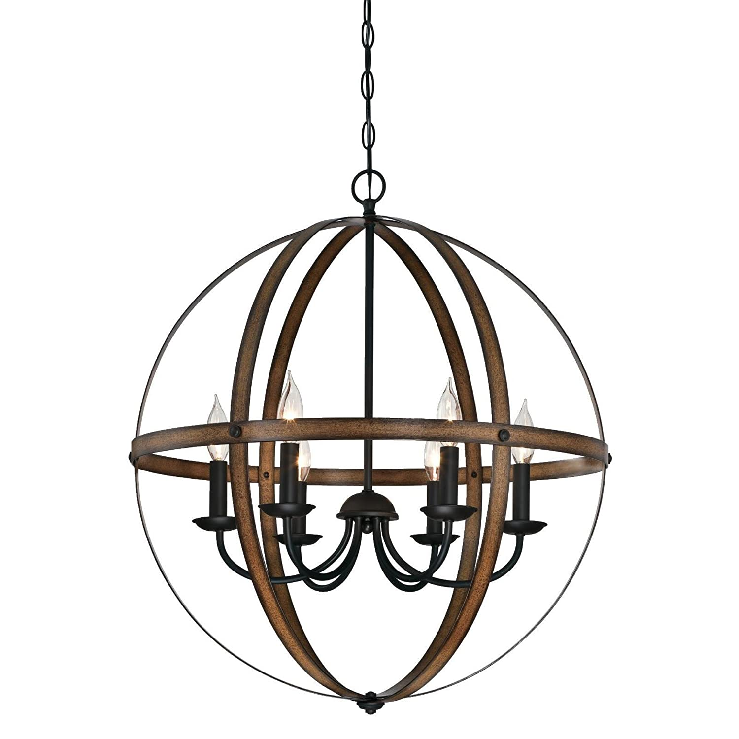 Westinghouse 6333600 Stella Mira Six-Light Indoor Chandelier Finish ...