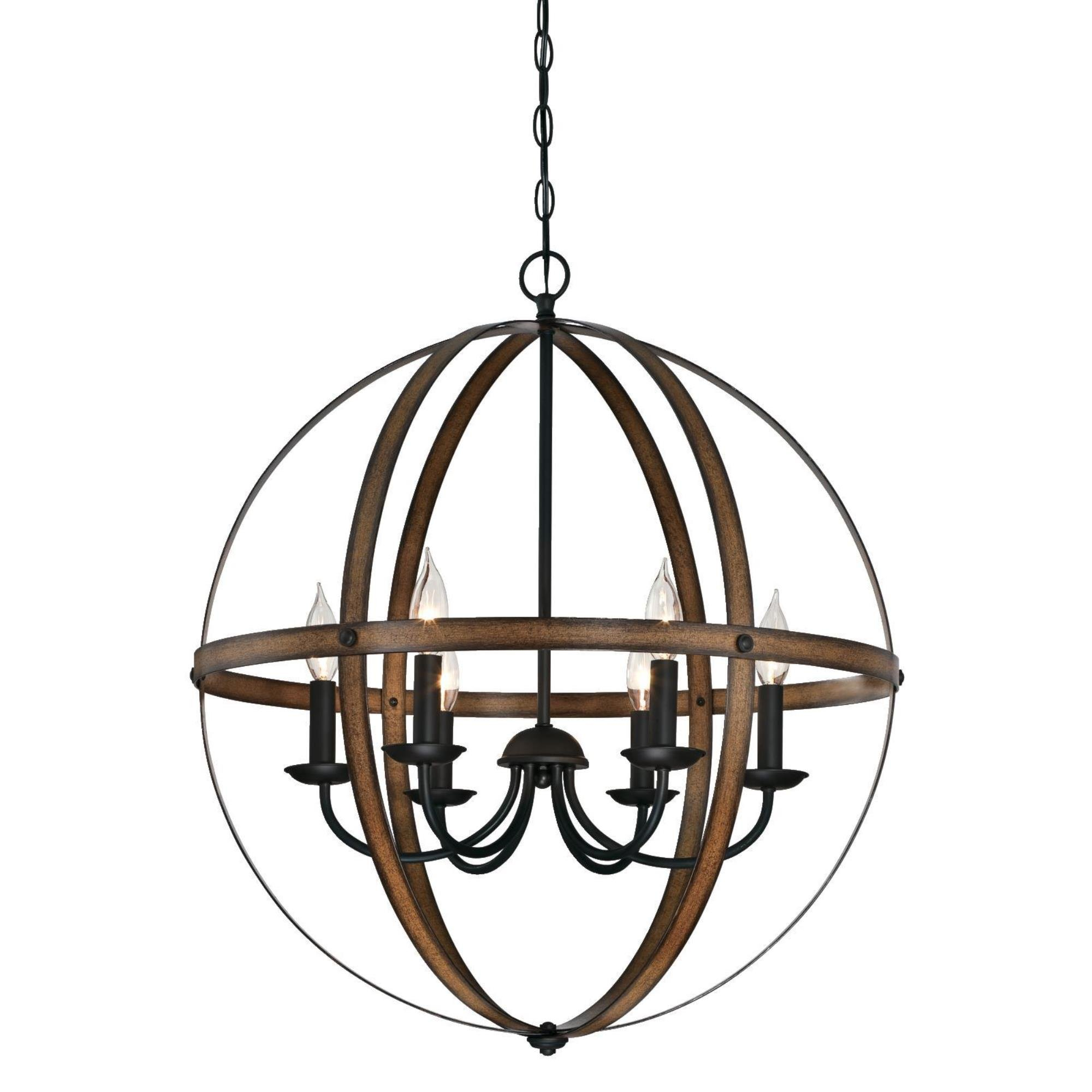 Westinghouse 6333600 Stella Mira Six-Light Indoor Chandelier Finish, Barnwood and Oil Rubbed Bronze by Westinghouse