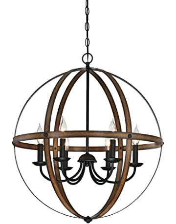 767566c8a Westinghouse Lighting 6333600 Stella Mira Six-Light Indoor Chandelier,  Barnwood and Oil Rubbed Bronze
