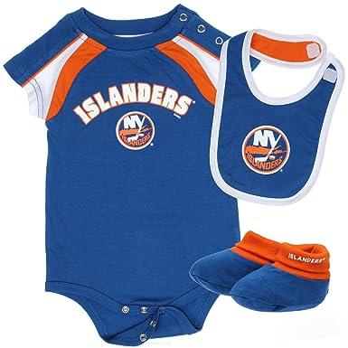finest selection 33f1d 98fcf Amazon.com: New York Islanders Blue Creeper Bib Bootie ...