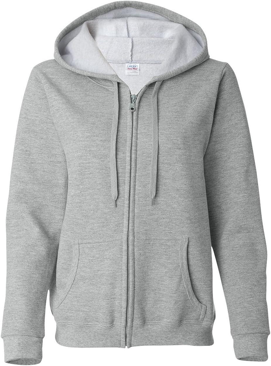 Gildan 18600FL GD Lady Hooded Zip Sweatshirt - Sport Grey (50/50) - Large