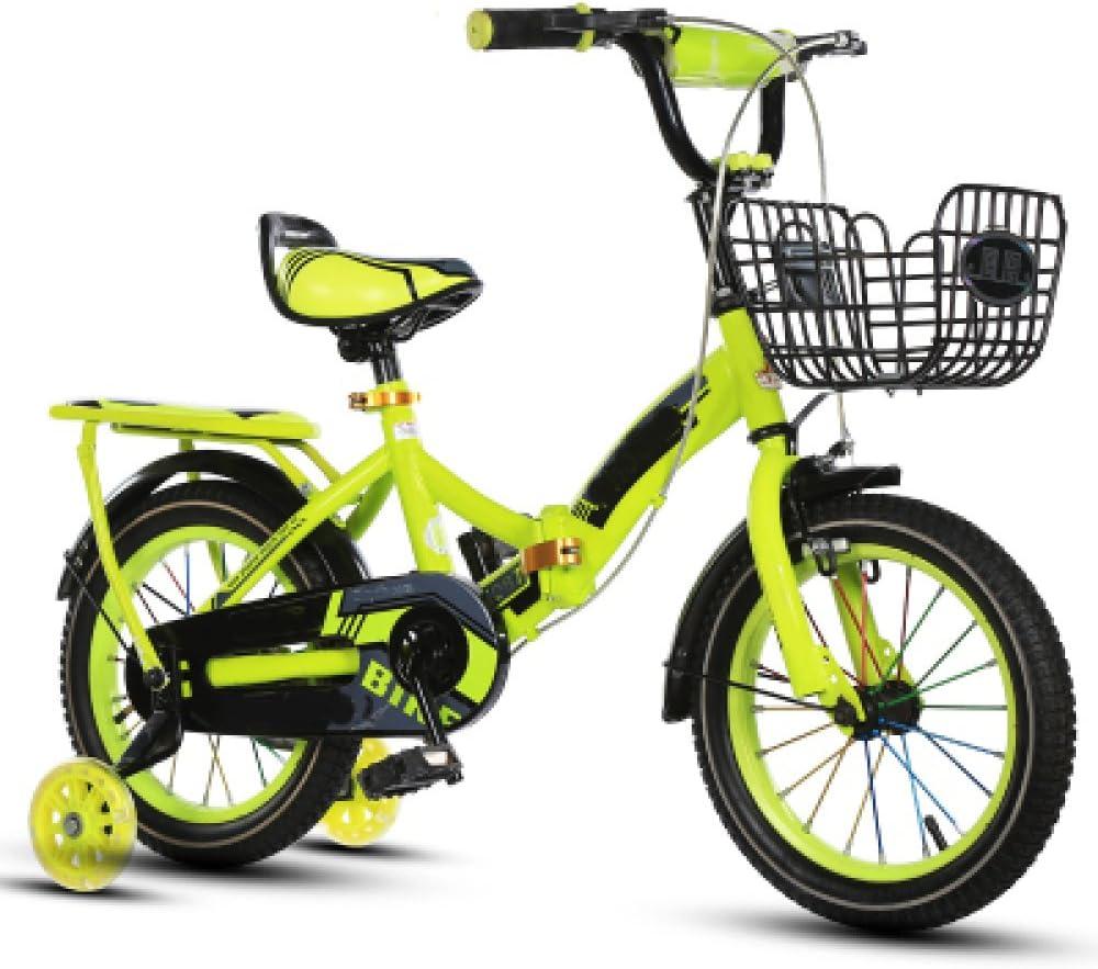 ZCRFY Sport Kids Bicicleta para Niños Ajustable Niñas Estudiante Pequeños Bebé Bicicletas Infantiles Plegable para Hombres Y Mujeres con Trasero En Bicicleta: Amazon.es: Deportes y aire libre