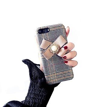 9b968047b4 Spinas(スピナス) 大人可愛い タータンチェック柄 モチーフリボン スマホケース ケースカバー iPhone6/