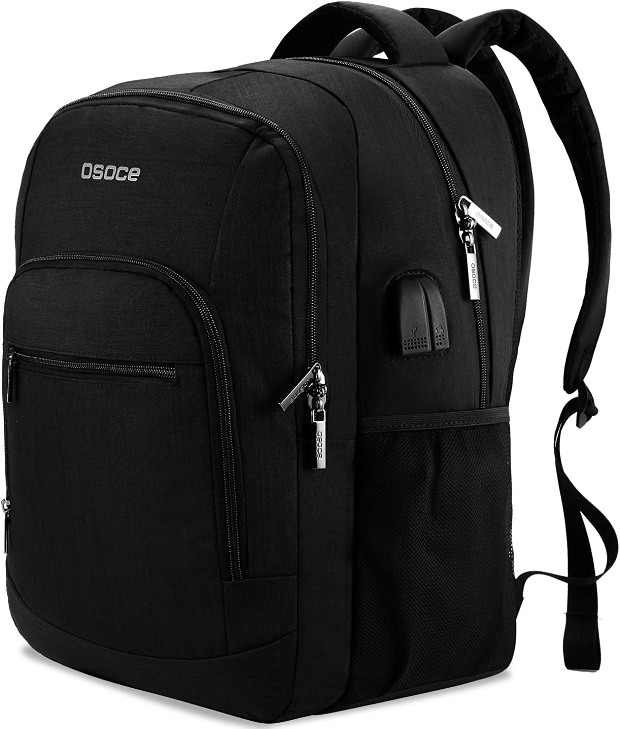 Travel Backpack With USB Charging Port, Waterproof Multi-Pocket Laptop Bags, College Computer Back Packs Fits 15.6-inch Notebooks for Men & Women