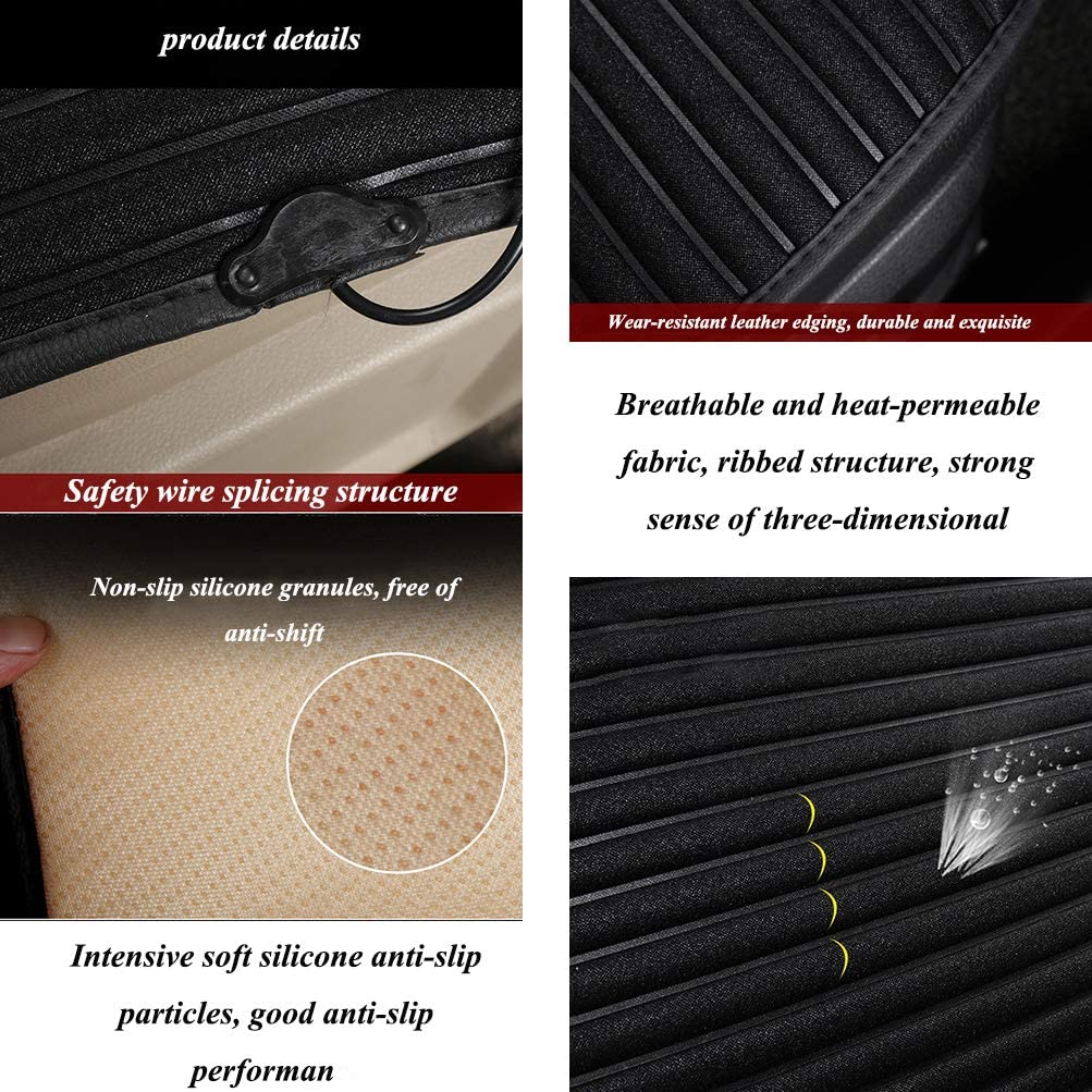 YGYQZ Heated Car Seat Cover Multi-functional USB Heated Seat Cover for Car//Home//Office Black 5V Portable Heated Front Seat Cover with Intelligent Temperature Contural