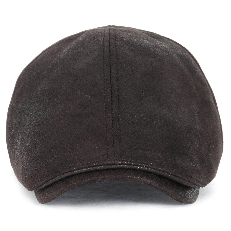 (イリリリー)ililily フラットキャップ ビンテージ キャビーハット ギャツビー アイビーキャップ アイリッシュ ハンチング帽 ニュースボーイ ストレッチ B01GZPFK3U XL|XL-Dark Brown XL-Dark Brown XL