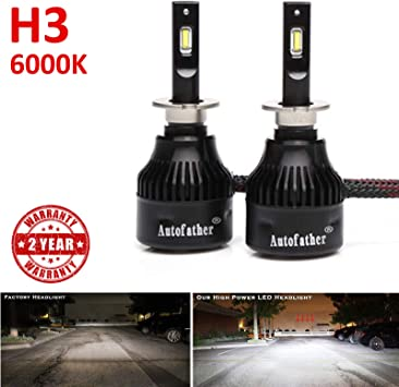 2 Yr Warranty H4 9003 HB2 LED Headlight Bulb Hi//Lo Beam 6000K Cool White 16000 Lumens Super Bright CSP Chips Built-in Fan Driver Ballast High Beam and Low Beam Conversion Kit