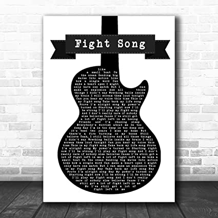 Canción de lucha para guitarra blanca y negra, con frase en inglés ...
