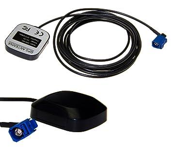 GPS Antena FCC Coche Fakra Comand Navi 3m Cable: Amazon.es: Coche ...