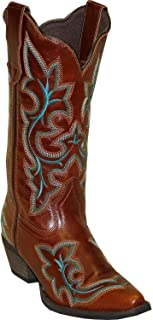 product image for Abilene Women's Rawhide by Fancy Stitch Embroidered Western Boot Snip Toe