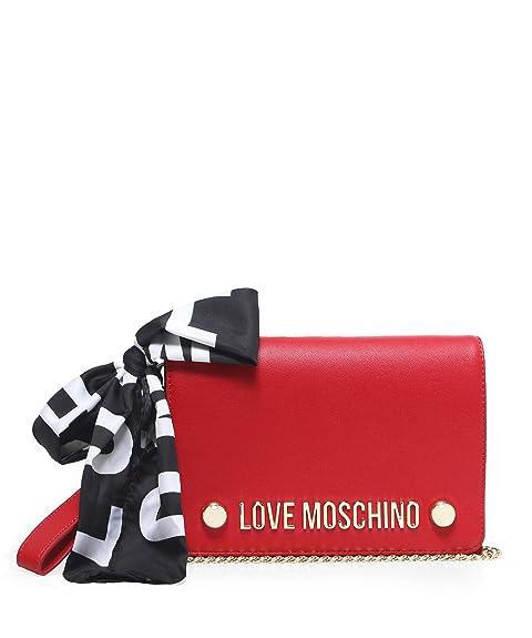 004456f9a5 Love Moschino Moschino Donna sciarpa cravatta Pochette Rosso Unica Taglia:  Amazon.it: Scarpe e borse