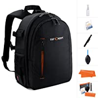 Camera Backpack,K&F Concept Multifunction Security Camera DSLR Bag Organizer Rucksack Waterproof with tripod holder,Rain Cover for Laptops Tablets Canon Nikon Camera Accessories Black for Men/Women