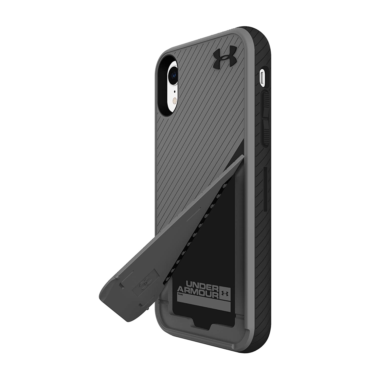 reputable site 65e74 8aaaa Under Armour Phone Case | for Apple iPhone XR | Under Armour UA Protect  Kickstash Case with Rugged Design and Drop Protection - Graphite/Black