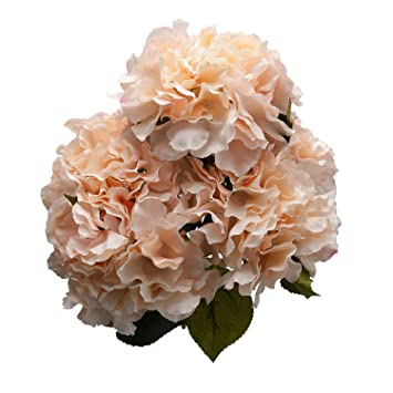 Amazon Derker Silk Artificial Hydrangea Bouquet 5 Big Heads