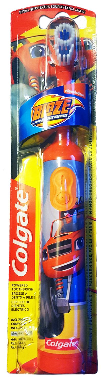Colgate Blaze And The Monster Machines Toothbrush & Toothpaste Bundle: 2 Items - Powered Toothbrush, Bubble Fruit Toothpaste by Kids Dental Bundle (Image #2)