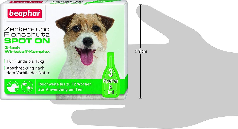 Zecken und Flohschutz SPOT ON für Hunde bis 15 kg