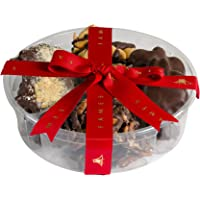 Nut Clusters Chocolate Gift Box - Gift Snack Includes Variety of Caramel Brittles, Pecan patties, Almond and Cashew Clusters, Kosher (I Lb)
