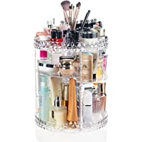 Display4top klar akryl 360 graders roterande multifunktions förvaringslåda, sminkarrangör, kosmetikaarrangör, passar…