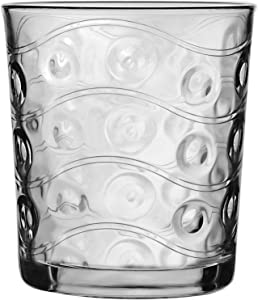 Circleware 40171 Heavy Base Whiskey Glasses 4-Piece Set, Party Entertainment Dining Beverage Drinking Glassware Cups for Water, Liquor, Cocktails, Beer, Ice Tea, Juice and Bar Decor, 12.5 oz, Cosmo