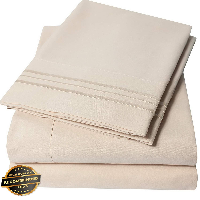 Egyptian Comfort 1800 Series 4 Piece Bed Sheet Set Deep Pocket Bed Sheets
