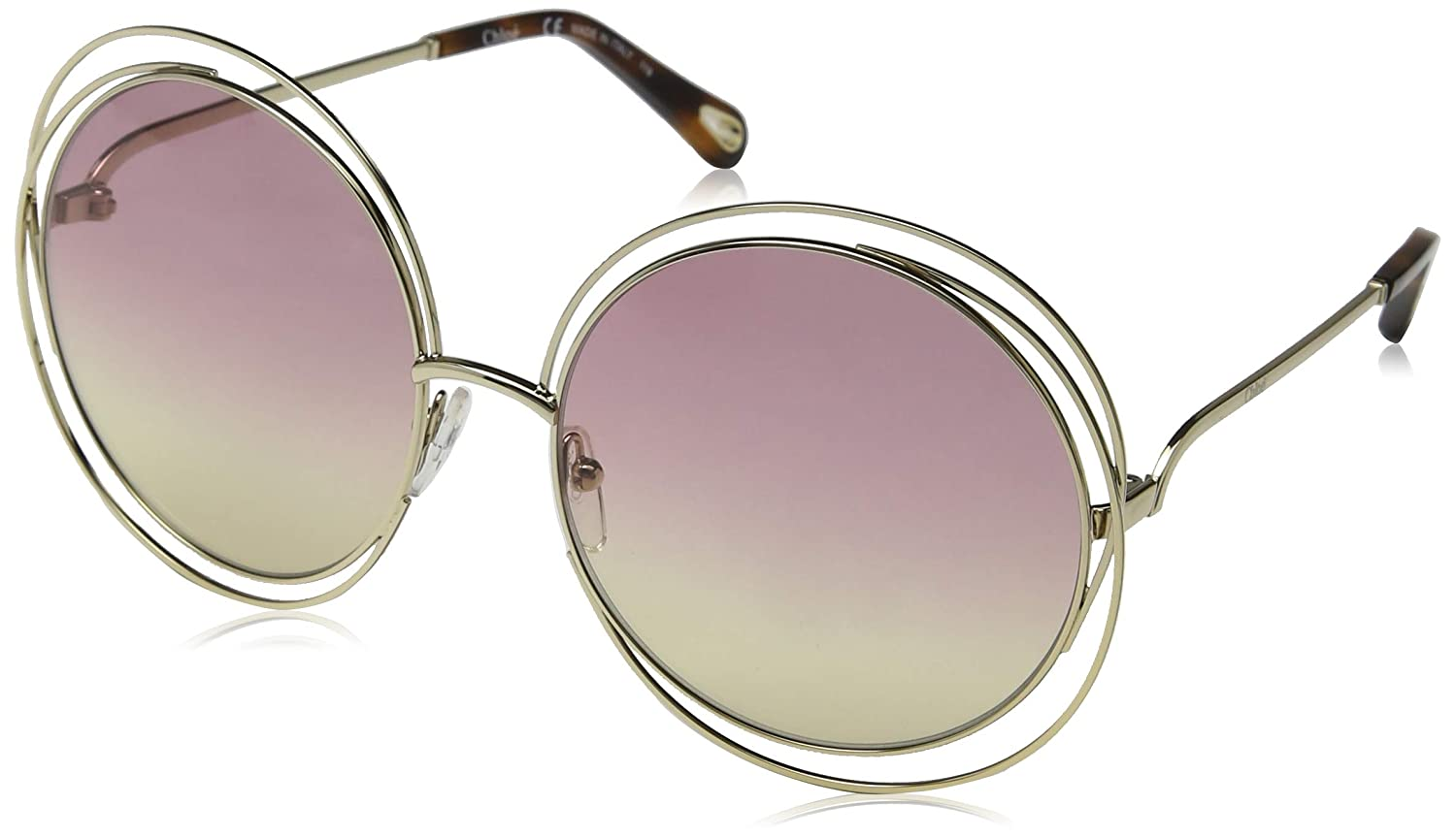 13bddc9106 Sunglasses CHLOE CE 114 SD 702 GOLD HAVANA GRAD ROSE HONEY LE at Amazon  Men s Clothing store