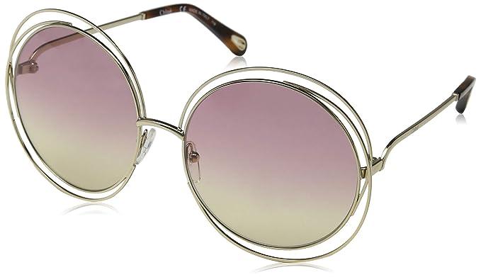 Chloé Ce114Sd 702 62, Gafas de sol para Mujer, Gold/Havana ...