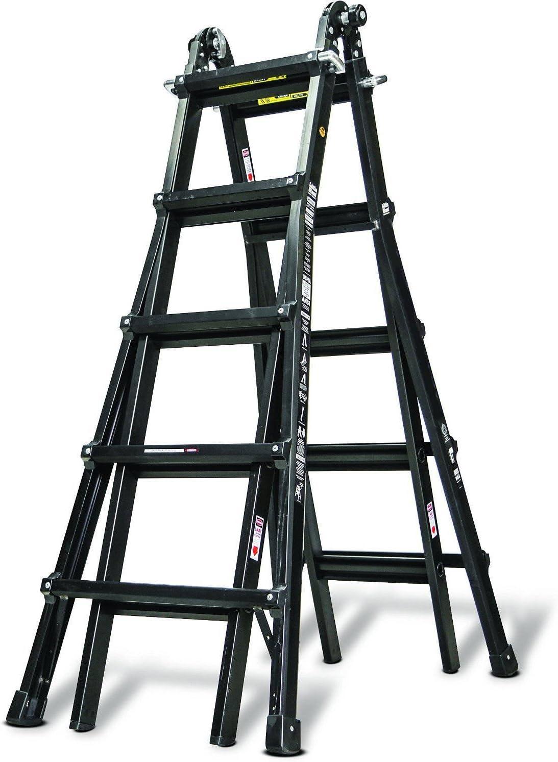 Negro Rhino PRO-LINE Bak N negro escalera de aluminio 22 por poco gigante: Amazon.es: Bricolaje y herramientas