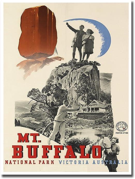 Victoria Australia Mt Trompf 1930 World Travel Poster Art Print Buffalo