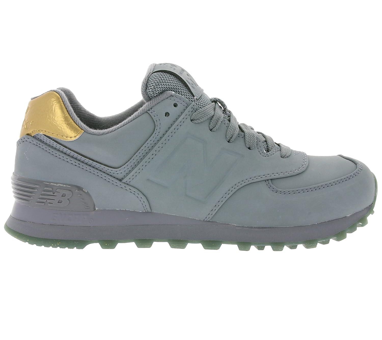 New Balance Damen 574 Sneaker, Gelb Grau (Gunmetal)