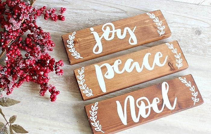 Christmas Wood Signs.Amazon Com Rustic Christmas Decor Rustic Christmas Signs