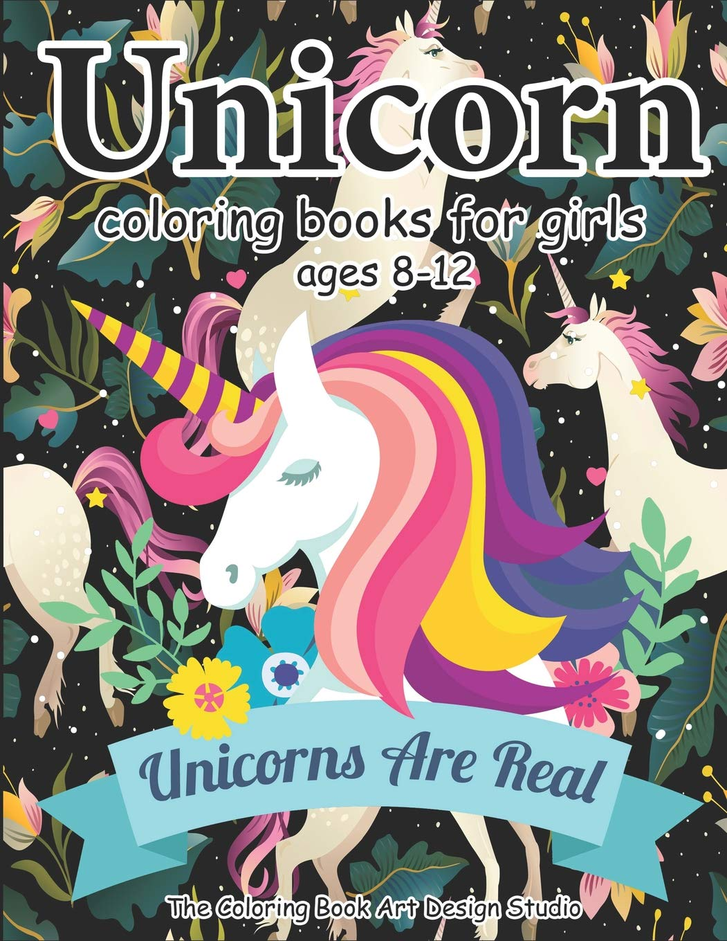 Unicorn coloring books for girls ages 8 12 unicorn coloring book for girls