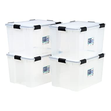IRIS USA, Inc. UCB-LDD WEATHERTIGHT Storage Box, 74 Quart